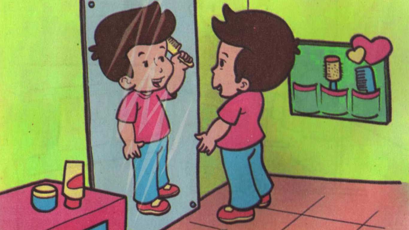860+ Gambar Kartun Orang Bercermin Gratis