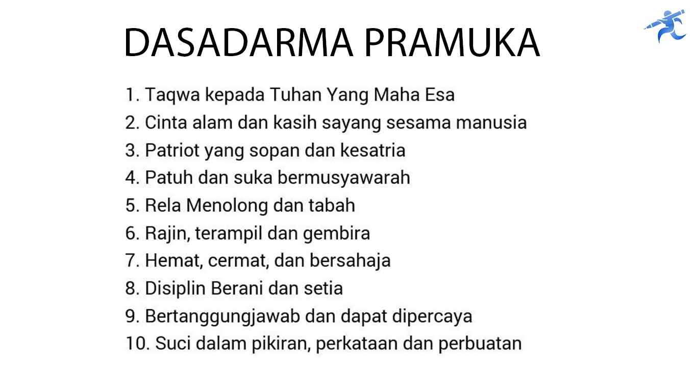 10 Dasadarma Pramuka