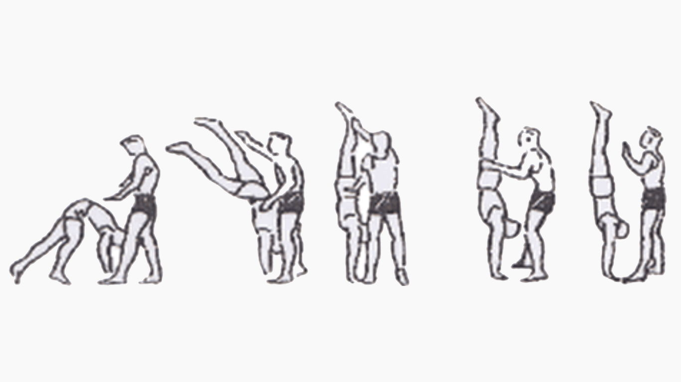 bantuan gerakan handstand