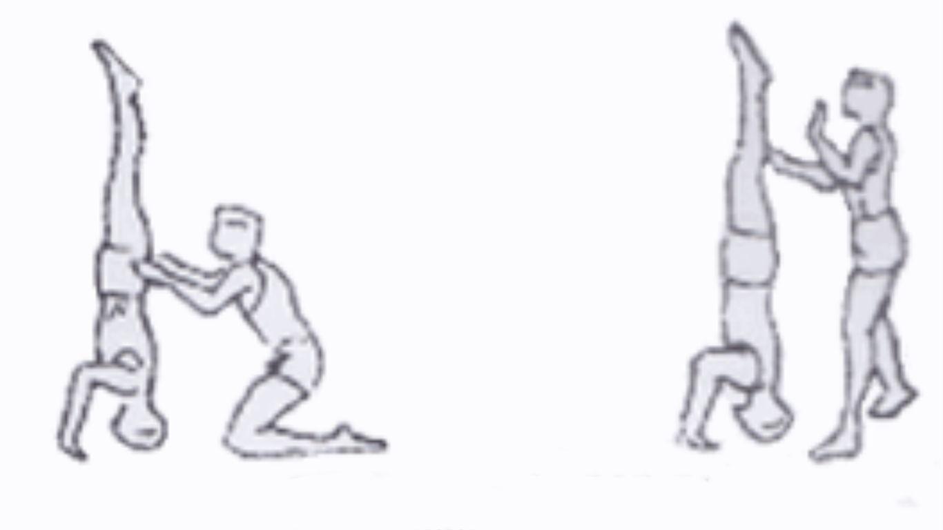 bantuan gerakan headstand