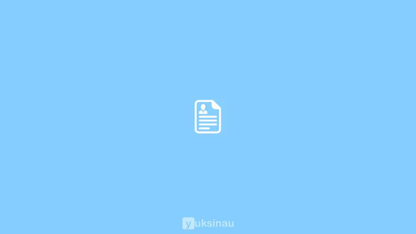 Diterima Contoh Surat Lamaran Kerja Resume Yang Baik
