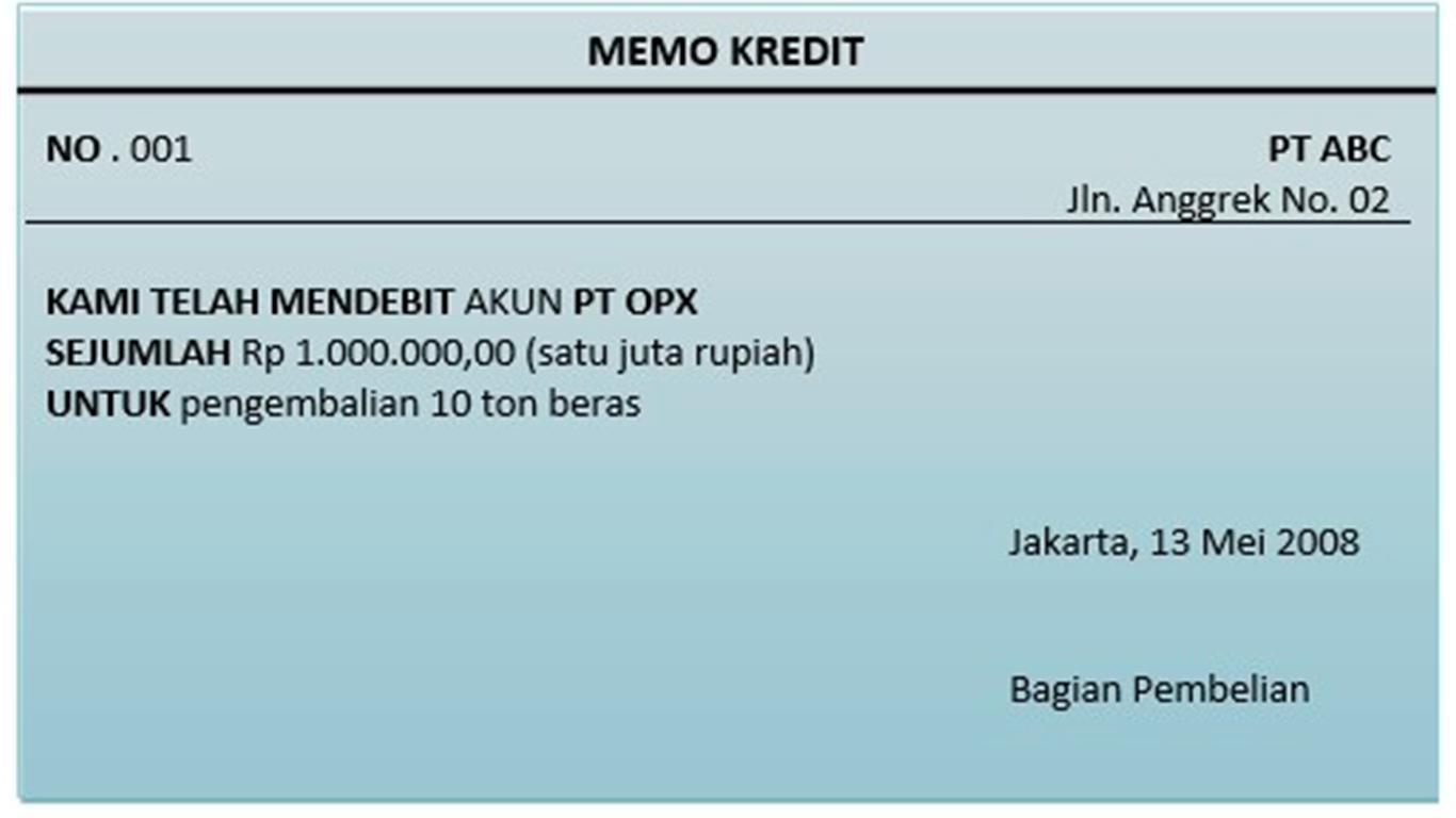 Memo Kredit