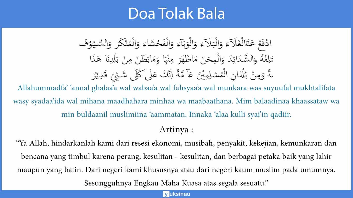 Doa Tolak Bala Panduan Doa