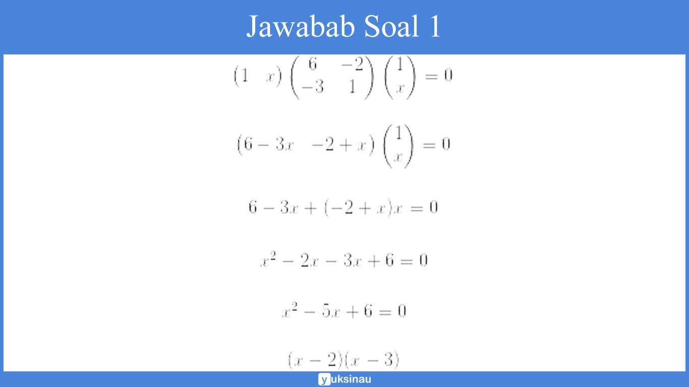 Jawaban Soal 1 elemen matriks