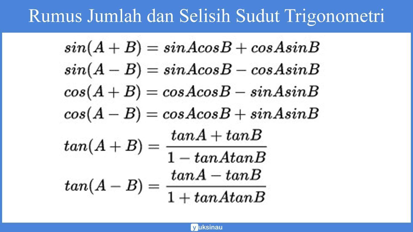 Rumus Jumlah dan Selisih Sudut Trigonometry