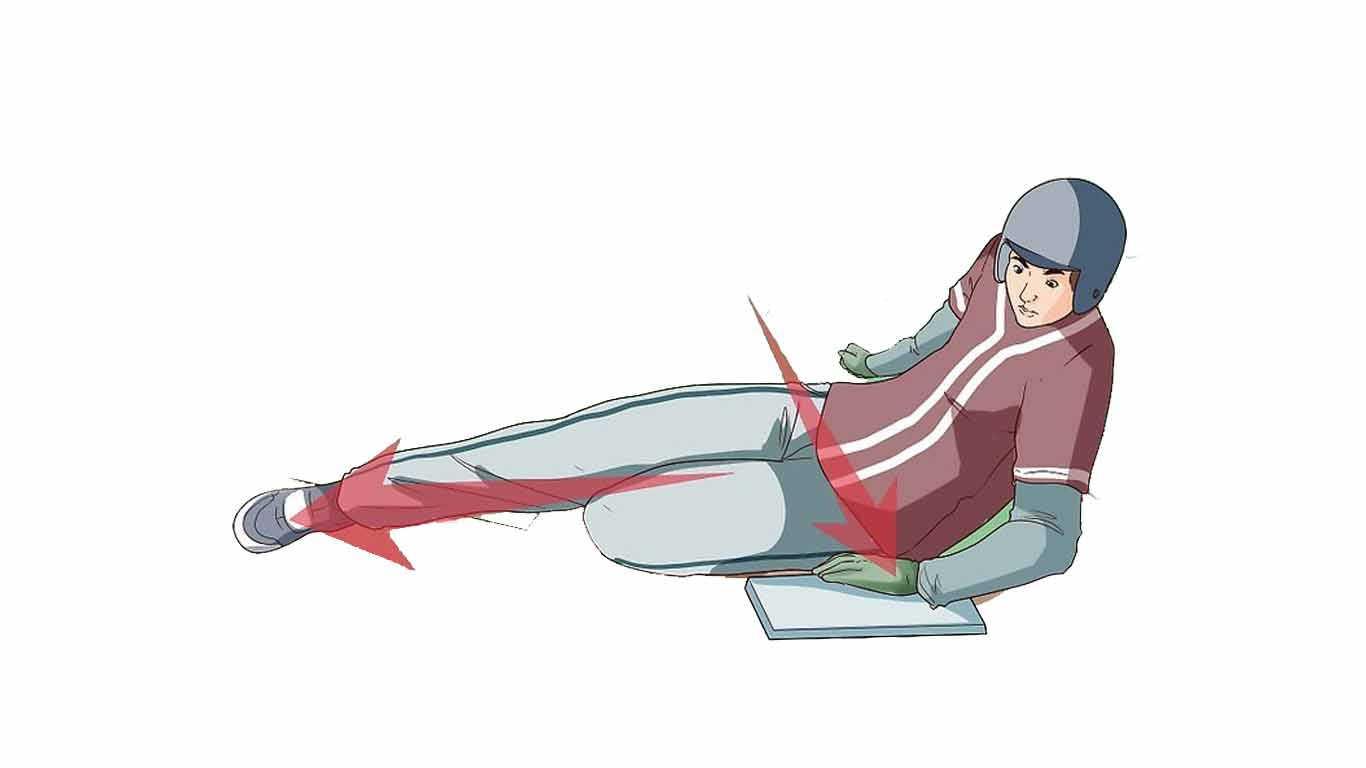 Softball Sliding lurus (straight leg slide)