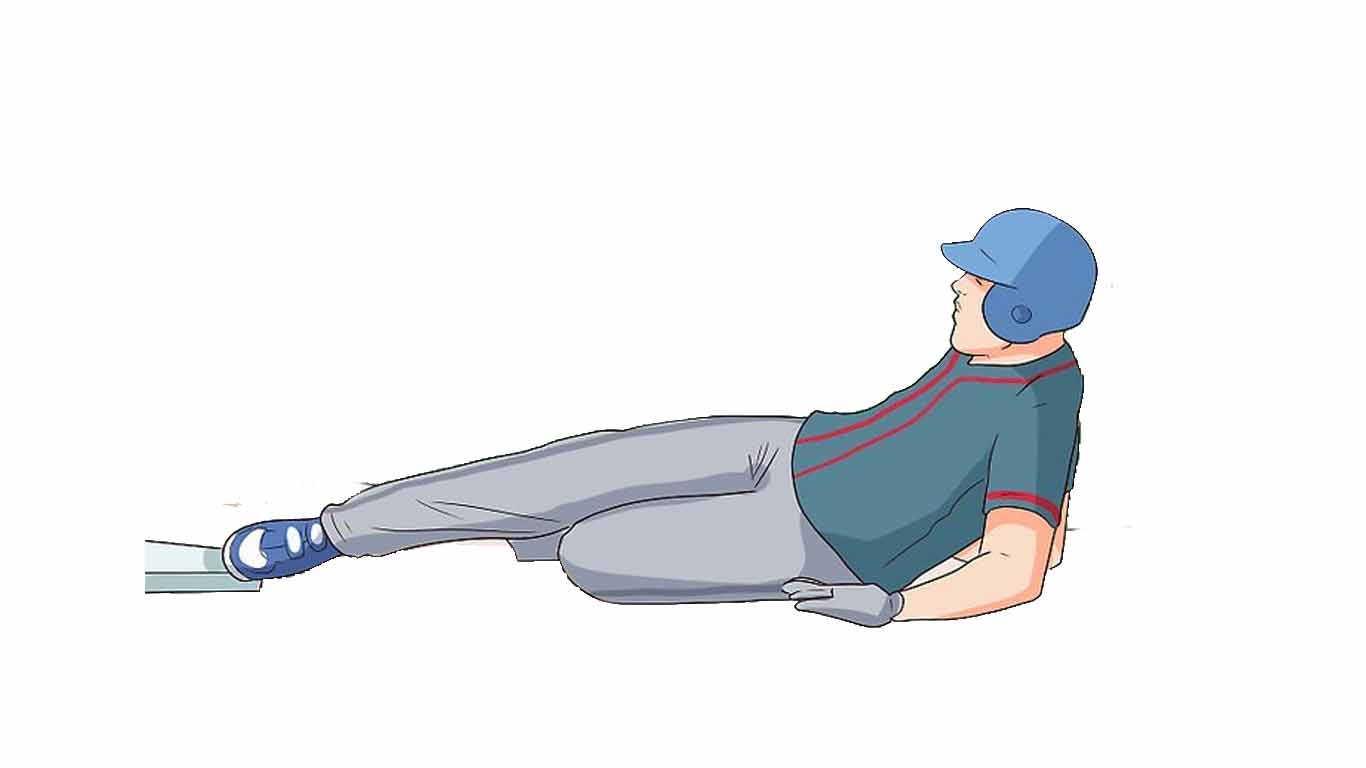 Softball Sliding mengait (hook slide)