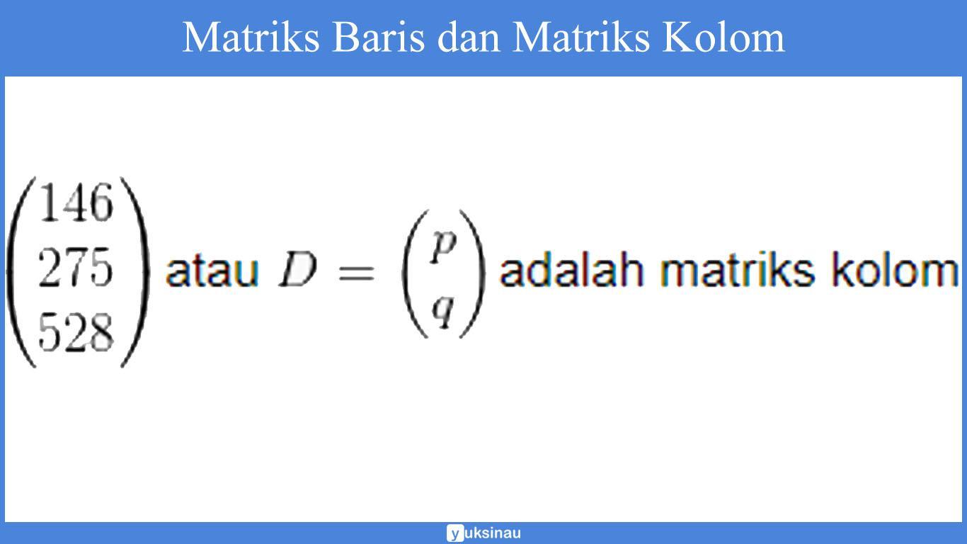 contoh soal elemen matriks