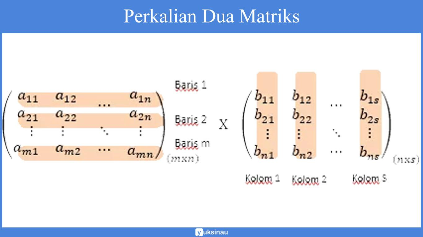 elemen matriks Perkalian dua matriks
