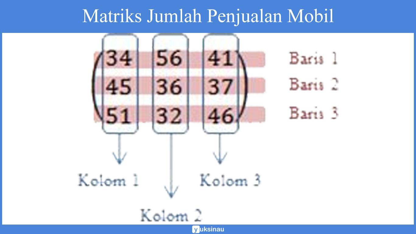 elemen matriks adalah