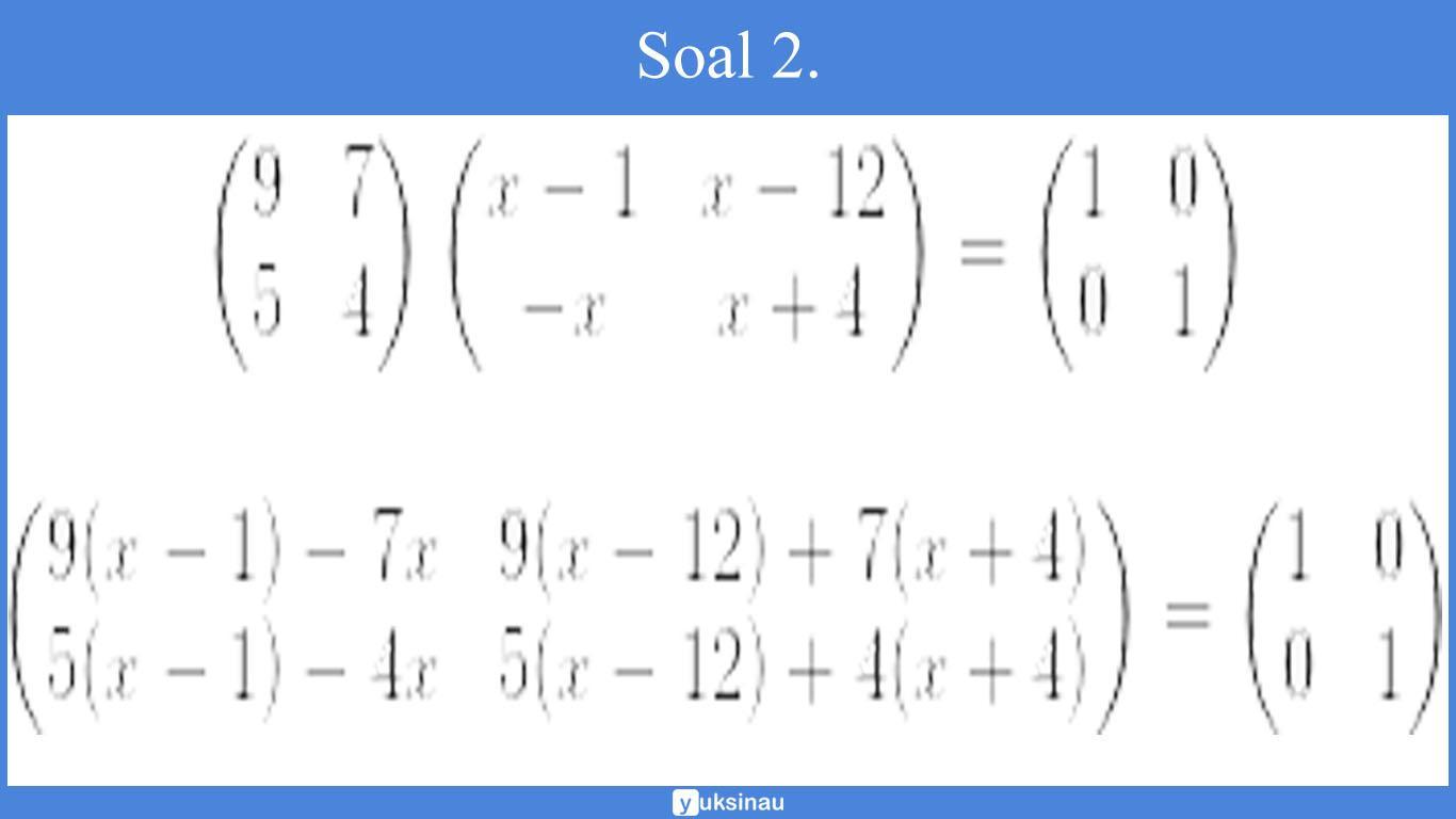 elemen matriks nomor 2