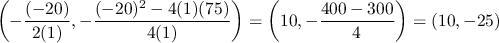 fungsi kuadrat y=x2-20x+75