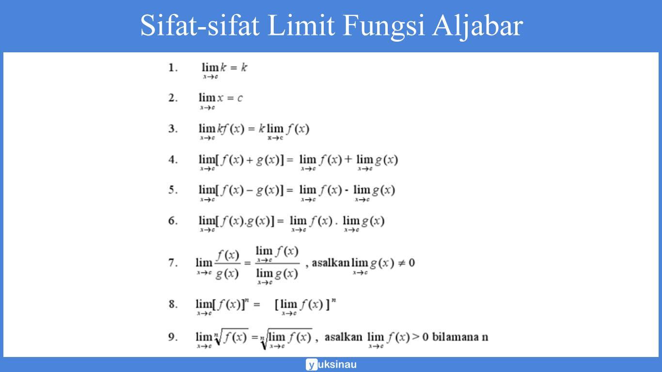 limit fungsi aljabar akar