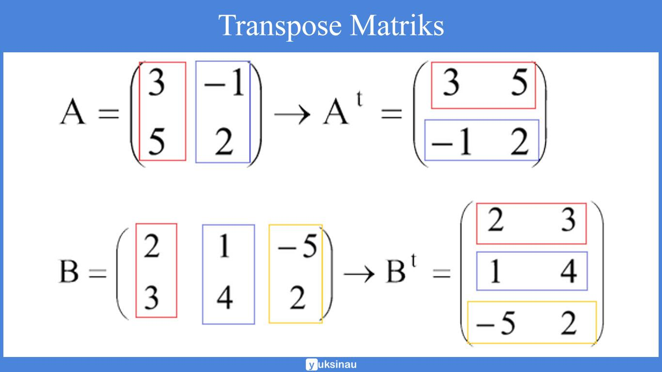 penjumlahan elemen matriks