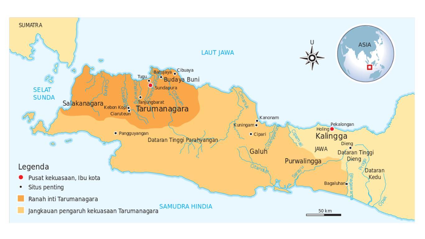 lokasi kerajaan tarumanegara