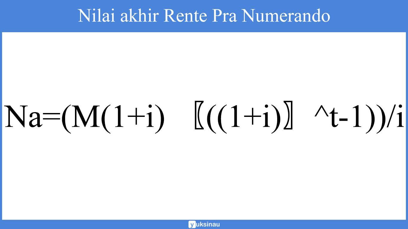 rente matematika keuangan