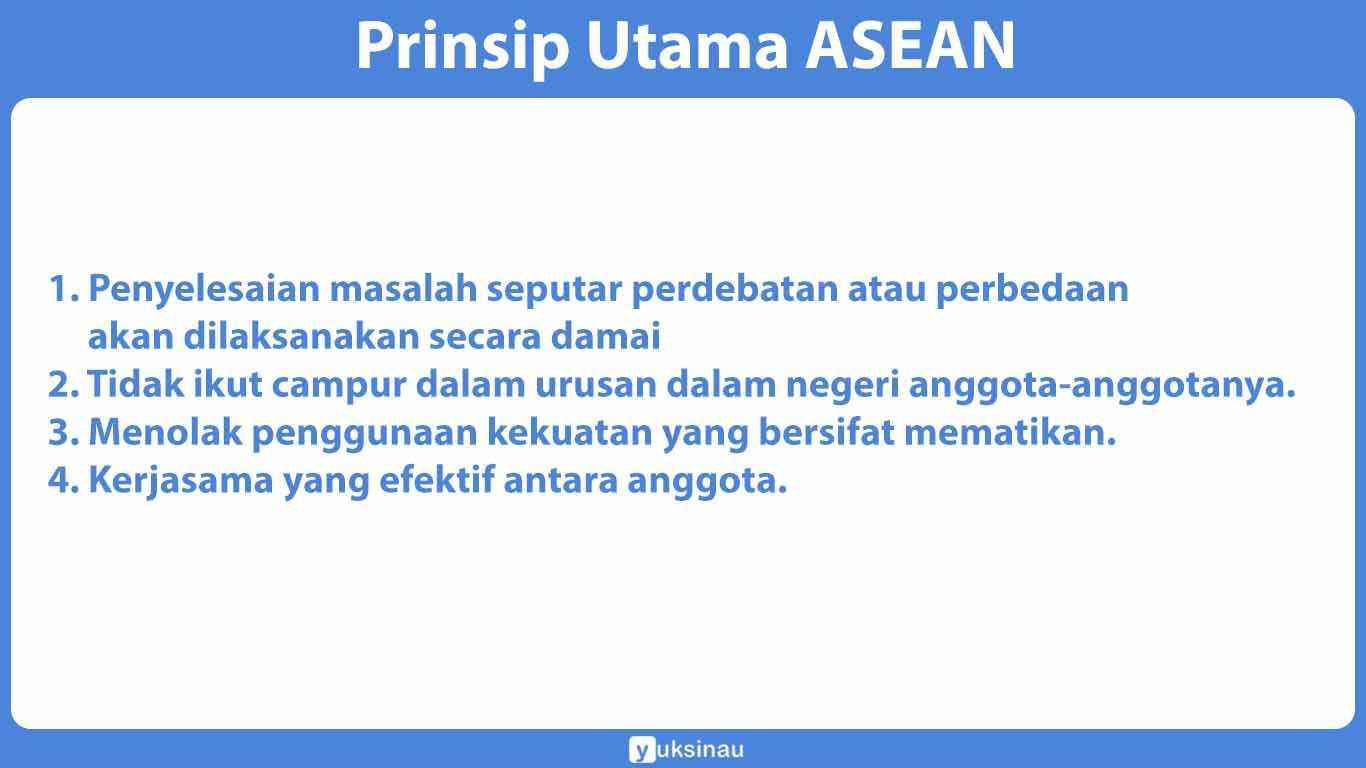 Prinsip Utama ASEAN