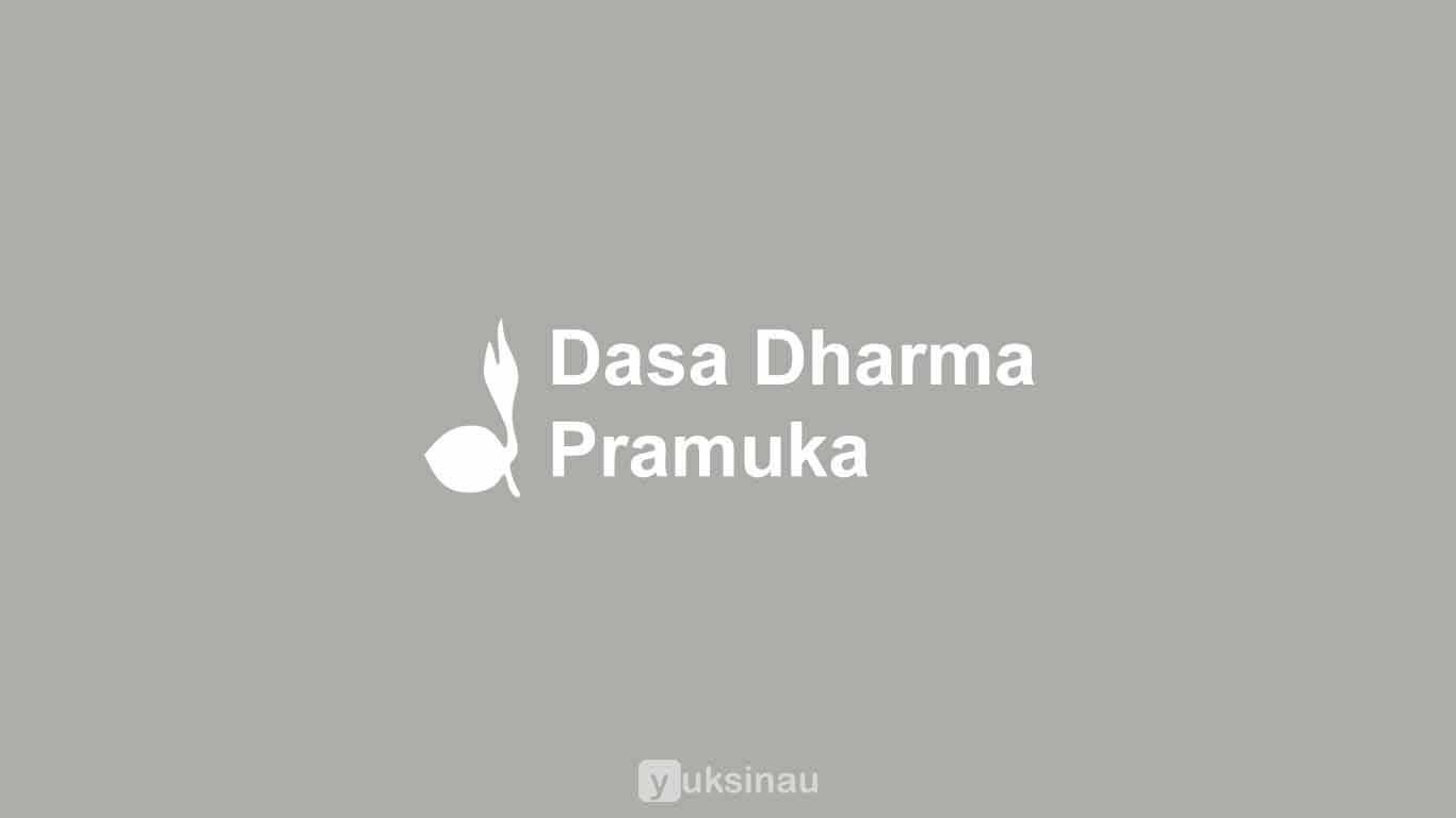 10 Dasa Dharma Pramuka dan Artinya