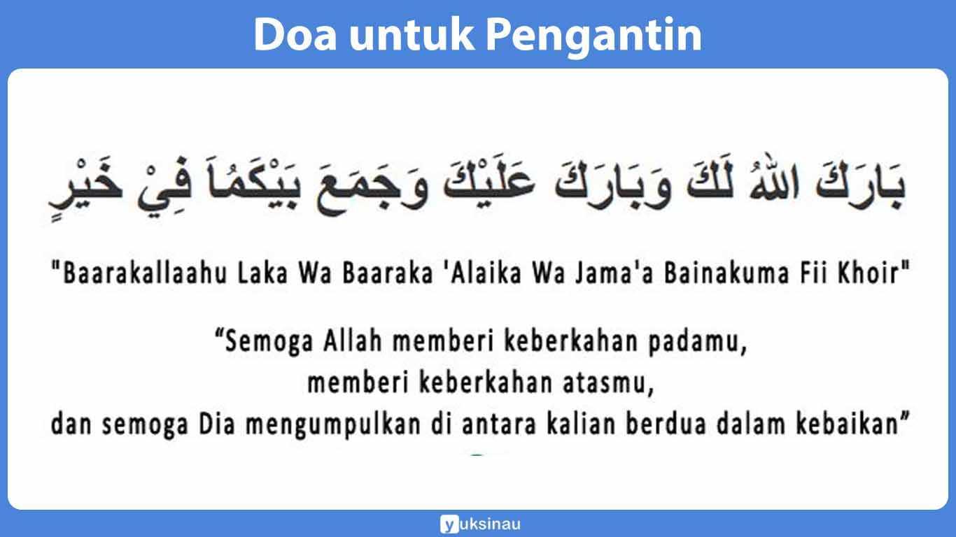 √ 5 Doa Pernikahan [Arab Latin Dan Terjemahannya]
