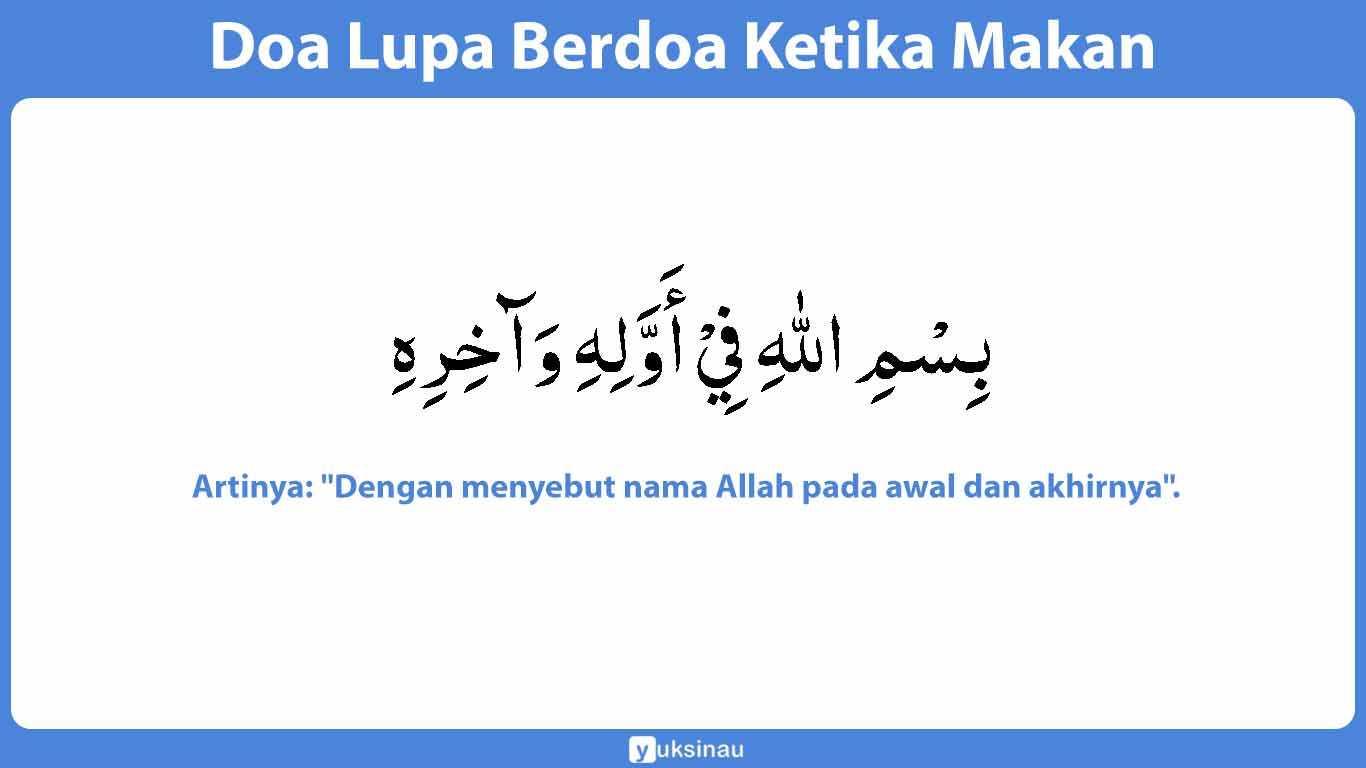 Lupa Baca Doa Makan