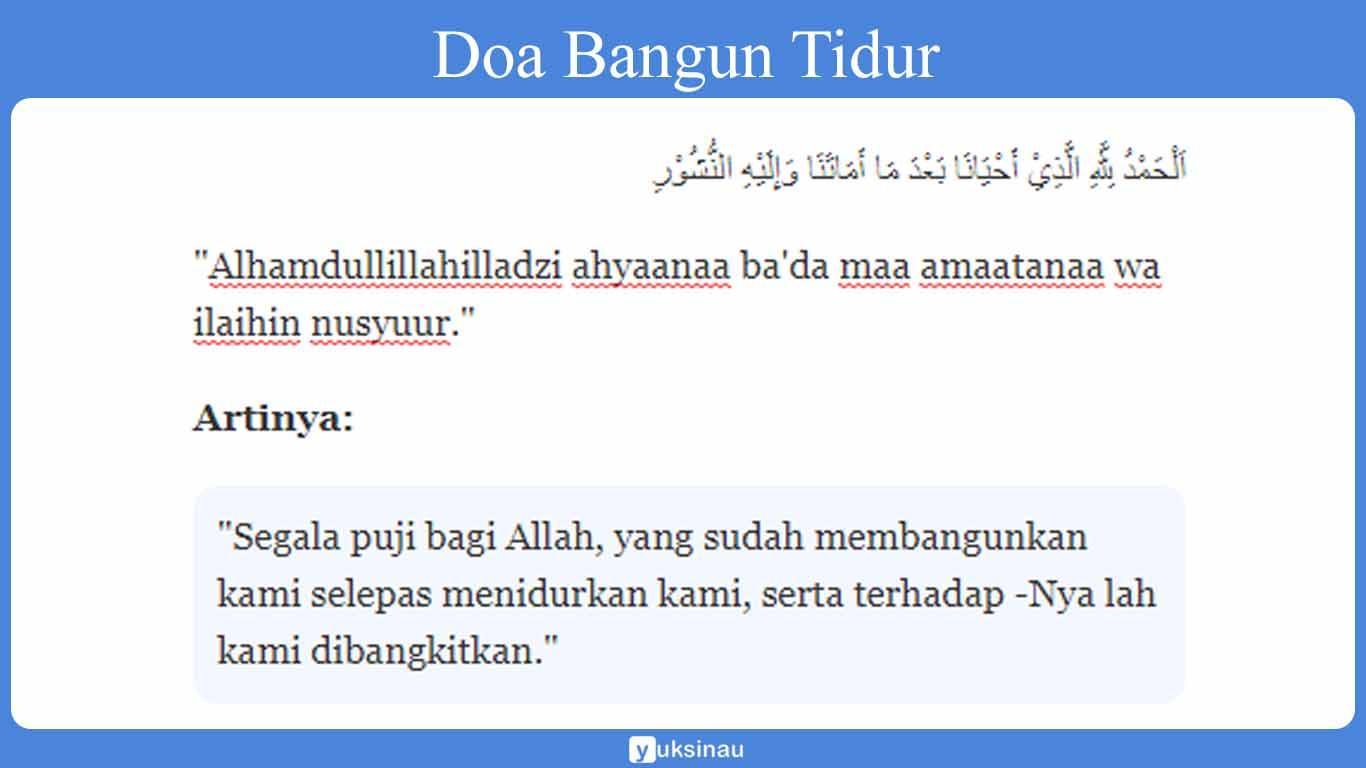 doa bangun tidur dan artinya