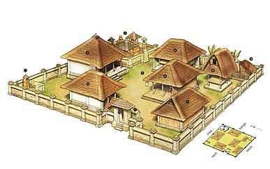 komplek rumah adat bali