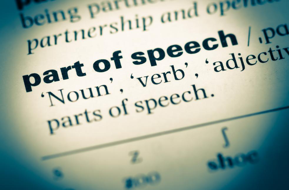 example part of speech