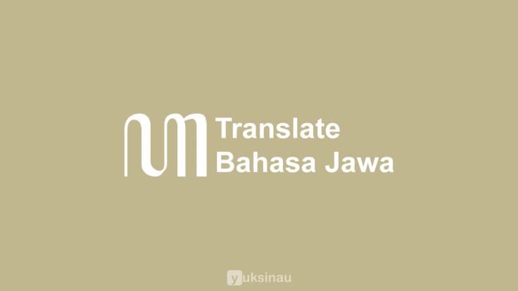 Translate Bahasa Jawa