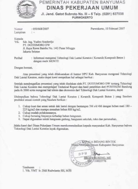 contoh surat dinas dan surat pribadi