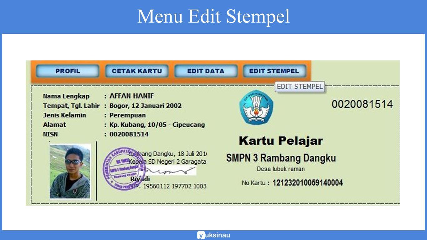 aplikasi kartu pelajar barcode