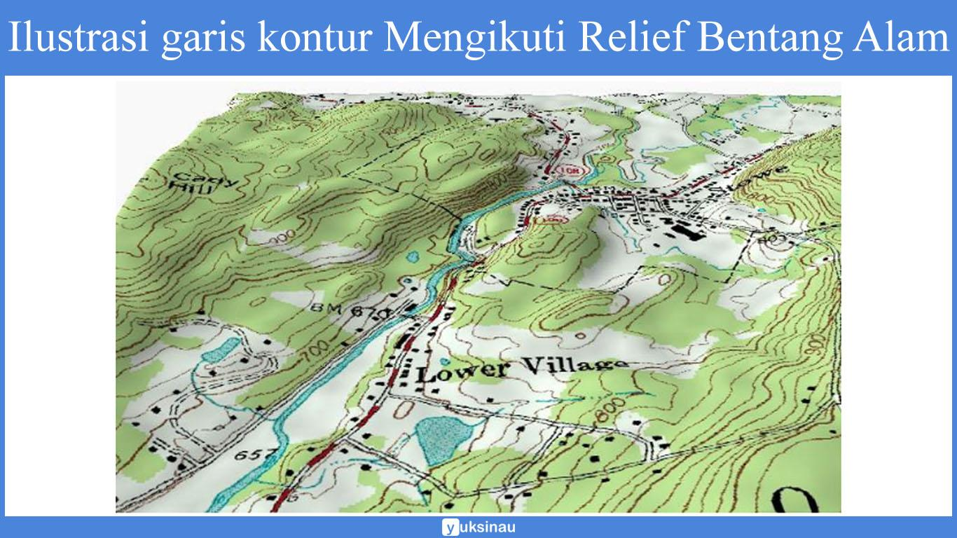 peta topografi indonesia